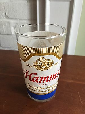Vintage~~1970's Hamm's Beer Drinking Glass Bar Brewery