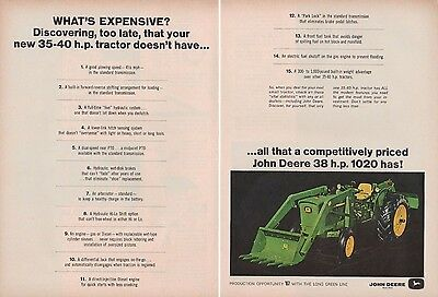1967 John Deere 1020 Farm Tractor AD Bucket Loader and Rear Blade 2-Page A1074
