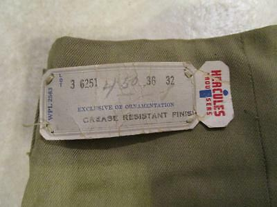 VINTAGE NOS DESTROYED 1950's - 60's HERCULES FARM WORK PANTS 34X31
