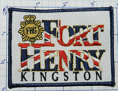 Canada, Fort Henry Kingston Ontario Historic Site War Of 1812 Souvenir Patch