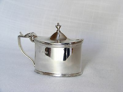 George V, Solid Silver Mustard Pot with Blue Glass Liner – London 1931