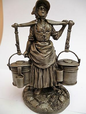 FRANKLIN MINT THE CRIES OF LONDON PEWTER FIGURE *THE MILKMAID* c1977
