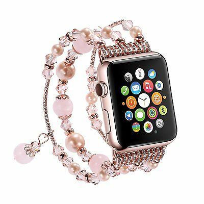 Pearl Beads Bracelet Watch Band Strap For 42mm 38mm Apple Watch Series 4 3 2 1