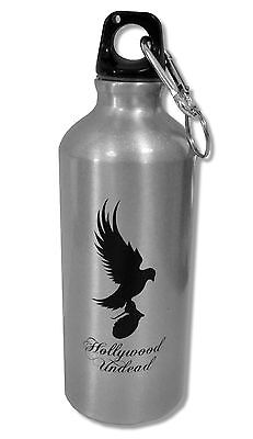 Hollywood Undead - Script Logo Silver Travel Water Bottle New Official Nib