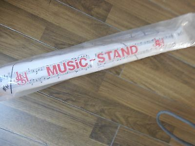 Music Stand     Black Metal   Adjustable  Used But Excellent Condition