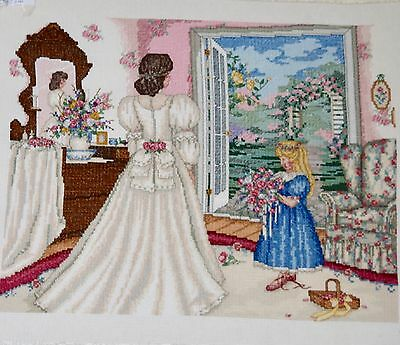 Completed Finished Cross Stitch,paula Vaughan, A Time To Dream