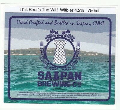 New Saipan Beer Label