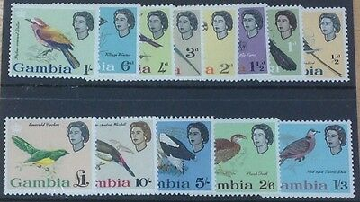 Gambia. 1963 Definitive Set Fine Mounted Mint.cat £85 ( Birds)