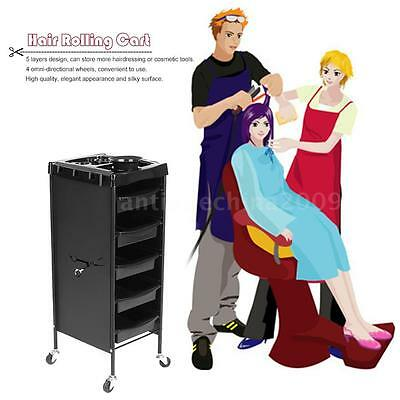 Hair Drawers Cart Barber & Spa Storage Trolley Cart Hairdressing Station W6F8