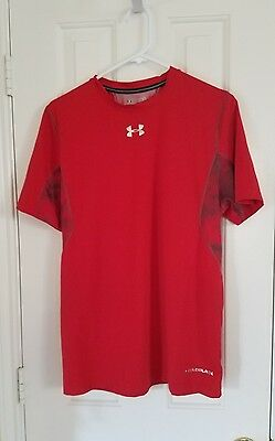 Under Armour Cold Black Heat Gear Fitted Mens Athletic Shirt Size Xl!!