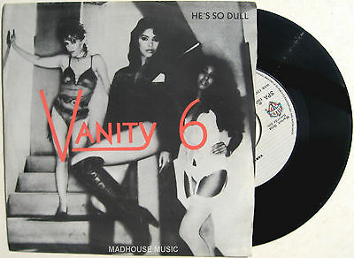 """PRINCE VANITY 6 7"""" He's So Dull rare  PORTUGAL PRESSING 1982 Orig UNPLAYED"""