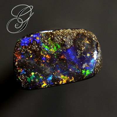 Nice Color Flashes Australian Boulder Opal  * 2.95 ct**Opals by Grace**