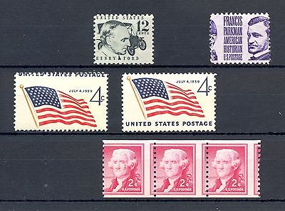 Usa Variety Error-  7  St. Mis -Shifted  Perforations  **  Mnh Vf   @1
