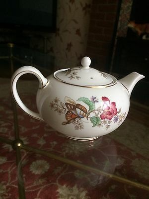 "Wedgwood ""sandon"" 4 Cup Teapot Petite And Colourful In No Faults Good Condition"