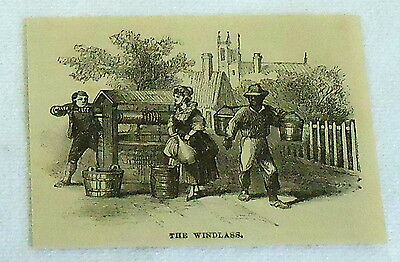 small 1882 magazine engraving ~ THE WINDLASS