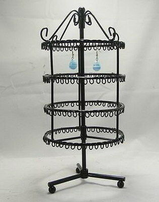 New 188  holes black color rotating earrings display stand rack holder