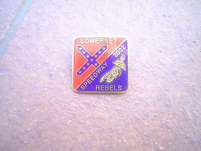 Somerset Rebels 2002    Speedway Badge Mint Con In Gold