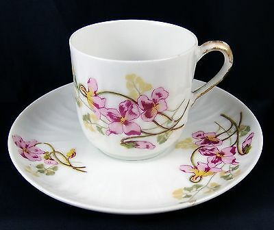 Very Pretty Vintage Limoges Porcelain Cup and Saucer