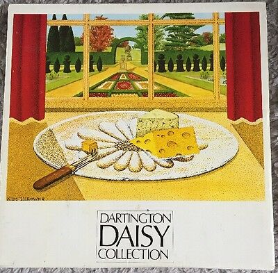 RETRO DARTINGTON ART GLASS DAISY COLLECTION CHEESE PLATTER by FRANK THROWER
