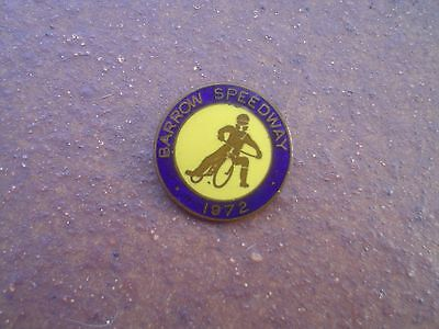 Barrow Bombers 1972    Speedway Badge  Good  Con In  Gold