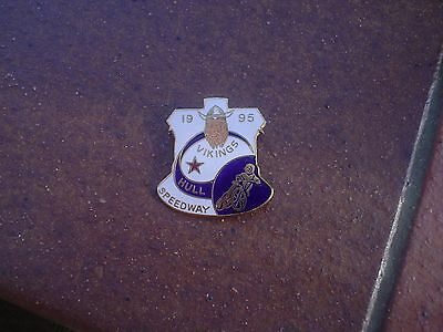 Hull Vikings 1995    Speedway Badge  Mint Con In Gold