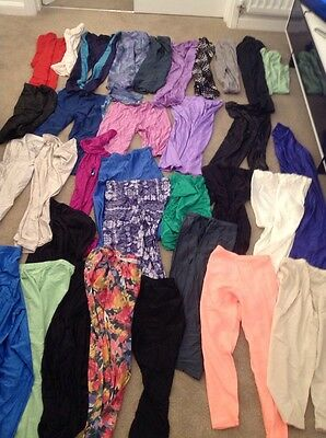 Vintage Wholesale Clothing 34 Lycra Leggings Shorts Sports Spandex Mix 80's 90's