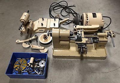 Pultra 1770 Watchmakers Lathe Drawbars Collets Mardrive Accessories 015