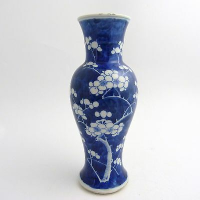 Chinese Blue And White Prunus And Cracked Ice Pattern Porcelain Vase