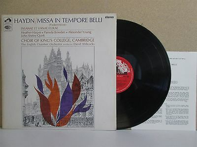 ASD 2303 ED1 STEREO S/C Haydn Missa In Tempore Belli King's College Willcocks LP