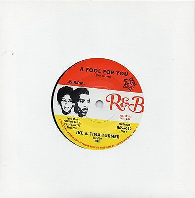 Ike & Tina Turner  A Fool For You  / It's Gonna Work Out Fine Uk Outtasight/r&b