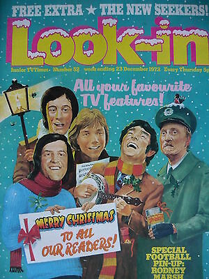 Look-In Magazine 23Rd Dec 1972 - New Seekers - Julie Andrews