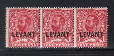 British Levant 1911-1913 Optd Sgl13 U/m Strip Of 3