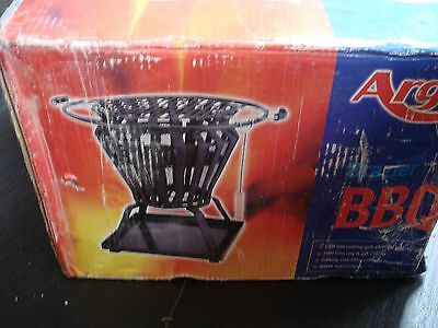 Fire Pit Basket Metal Outdoor Patio Log Burner Brazier Wood Bbq Heater Steel New
