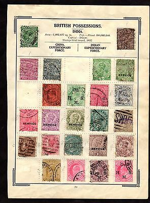 Stamps ~ INDIA INDIAN ~ Unsorted TWO SIDES Album Page