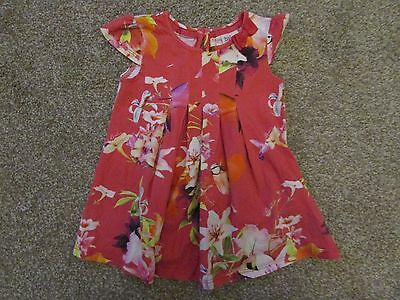 Baby Girls Ted Baker Pink Jersey Floral tunic top 9-12 Months RRP £26 - Exc con
