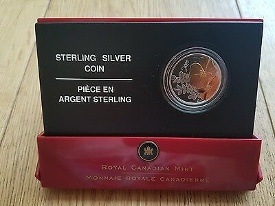 2005 Canada Silver Proof 50 cent coin The Golden Rose