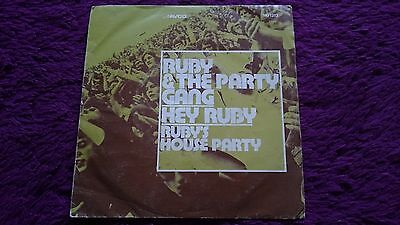 "Ruby And The Party Gang ‎– Hey Ruby , Vinyl, 45 RPM, 7"" , 1972 , Spain , PROMO"