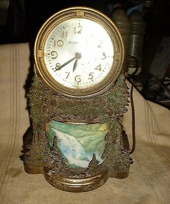 VINTAGE Master Crafters Waterfall Clock Model 344 as is motion light