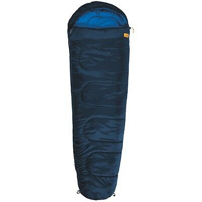 S#Easy Camp Cosmos Blue Waterproof Camping Hiking Sleeping Bag Polyester