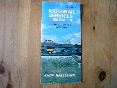 SNCF French Motorail folder brochure 1978, excellent condition