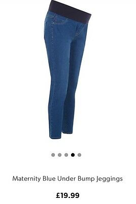 Newlook Maternity Blue Under Bump Jeggings Size 18