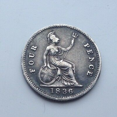 1836 William1111 Four pence Coin