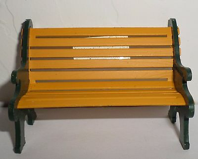 Dept 56 Heritage Village Wrought Iron Park Bench  Yellow Bench  52302