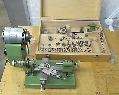 Boley Complete Lathe And Accessories Collets Tool Rest Motor + More 017