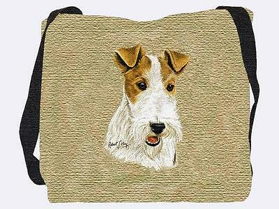 Woven Tote Bag - Wire Fox Terrier 2360