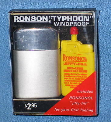 Vintage RONSON Windproof TYPHOON Jiffy-Fill Refillable Lighter #11302 - New
