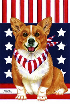 Garden Indoor/Outdoor Patriot (TP) Flag - Pembroke Welsh Corgi 750441