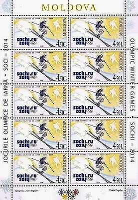 Olympic stamps! Winter Olympic Games, Sochi, Russia, MNH, 2014, 10v