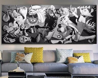 finedecoart gem lde leinwand acryl bild tier frosch brille rosa gemalt pop art eur 189 00. Black Bedroom Furniture Sets. Home Design Ideas