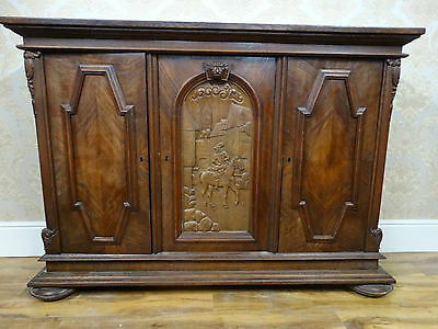 Fabulously imposing HUGE Victorian Style jacobean revival sideboard